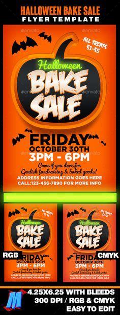bake sale poster sign digital fall bake sale