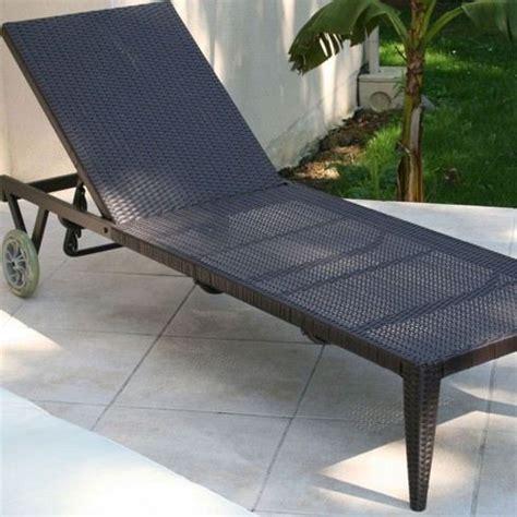chaise longue resine tressee bain de soleil en résine tressée multi achat