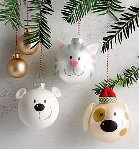 Christbaumkugeln Selber Gestalten : charmante figuren aus weihnachtskugeln selbst gestalten niedliche adventsdeko selber basteln ~ Frokenaadalensverden.com Haus und Dekorationen