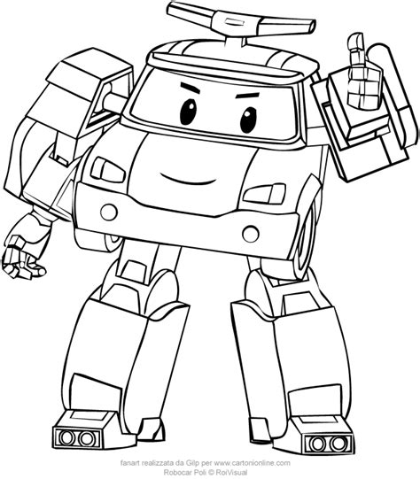 Kleurplaat Robocar Poli by Poli From Robocar Poli Coloring Pages