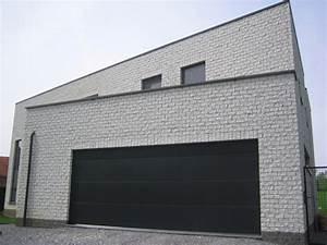 porte de garage grande maison travaux With grande porte de garage sectionnelle
