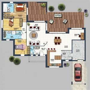 les 58 meilleures images du tableau plan maison plein pied With wonderful plan de maison en 3d 6 maisons cate atlantique constructeur