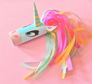 Unicorn Head Toilet Tube Craft Printable · How To Make A