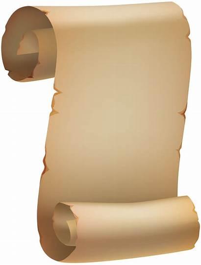 Scroll Papyrus Clipart Clip Paper Transparent Pergamino