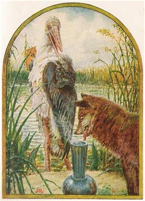 fox   stork aesops fables stories  morals