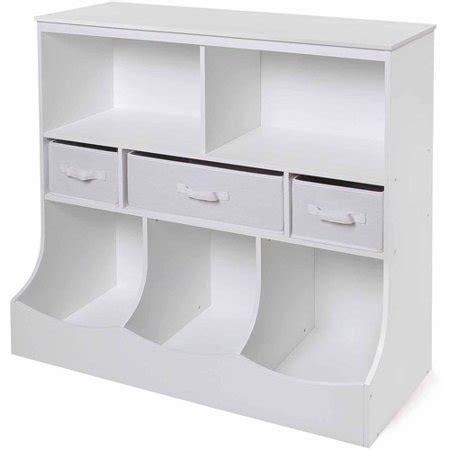 badger basket storage badger basket combo bin storage unit with 3 baskets white 5969