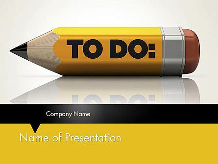 pencil reminder  template  powerpoint