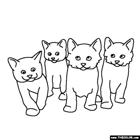 litter  kittens coloring page cat coloring page cat