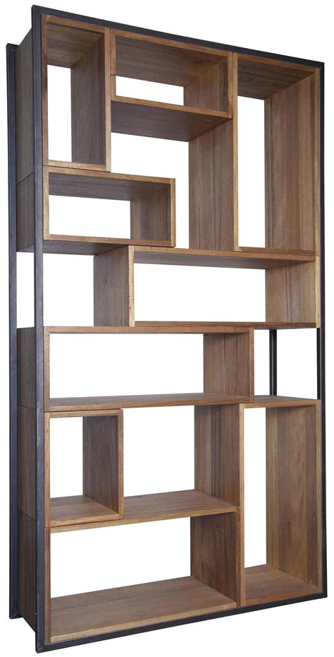 Wood And Metal Bookcase A Book Storage For Ultra Rustic