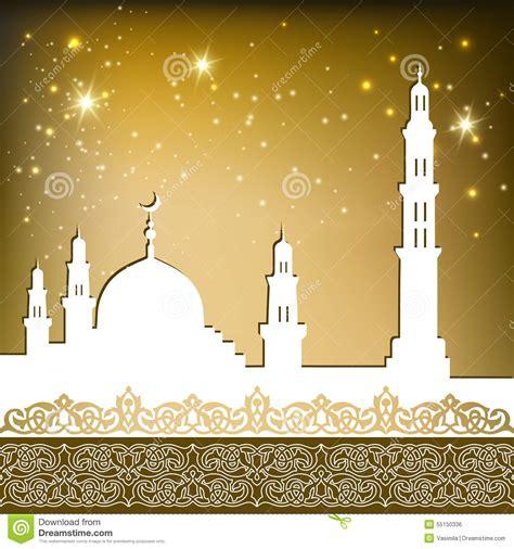 mosque gold stock vector illustration  pattern design