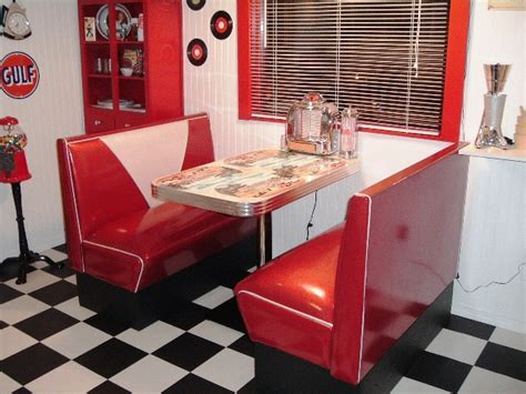 Danny's 50's Room: Diner Booth Set, Diner Booth Table