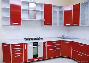 pictures of kitchens modern red kitchen cabinets page 2 With red and white kitchen cabinets