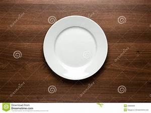 Empty Plate At The Table Royalty Free Stock Photo - Image