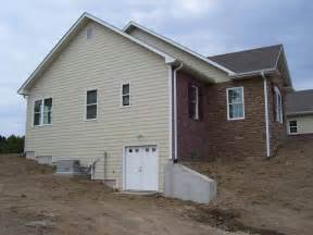 decorative walk out basement design callaway county road 354 custom homes by tompkins homes
