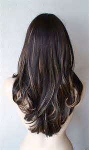 Strawberry Blonde Highlights Dark Brown Hair