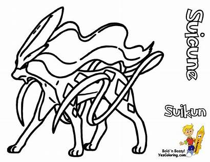 Pokemon Coloring Pages Legendary Printable Dogs Suicune