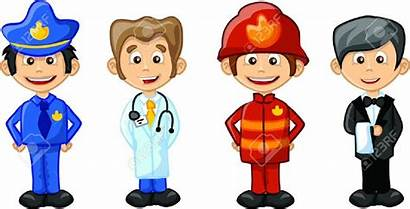 Clipart Profession Professions Career Cliparts Clip Different