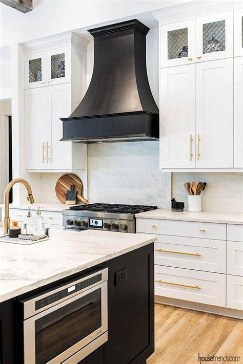 beautiful black range hood picks   tone   nearby island housetrends kitchentren