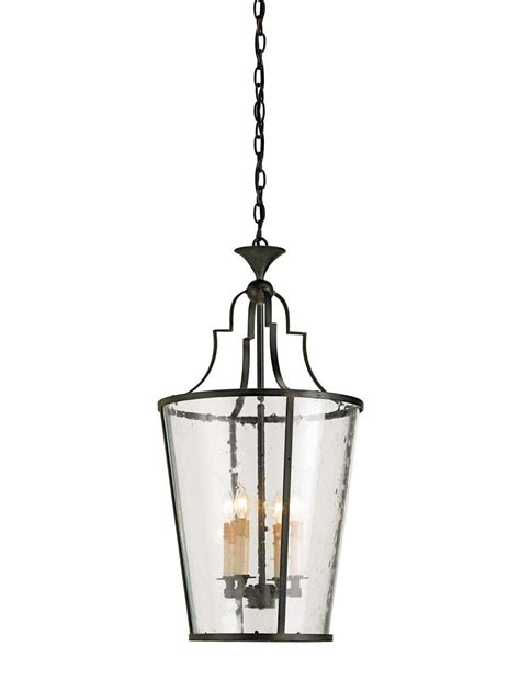 Currey & Company Fergus 4 Light 15 inch Old Iron Lantern