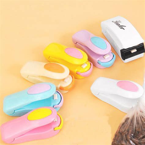 mini portable heat sealing machine impulse seal packing plastic bag sealer bag clips kitchen