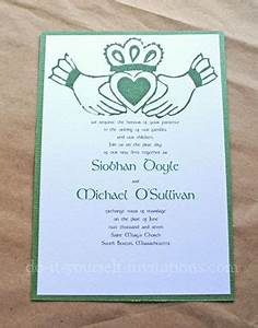 diy irish wedding invitations make your own and save With free printable celtic wedding invitations