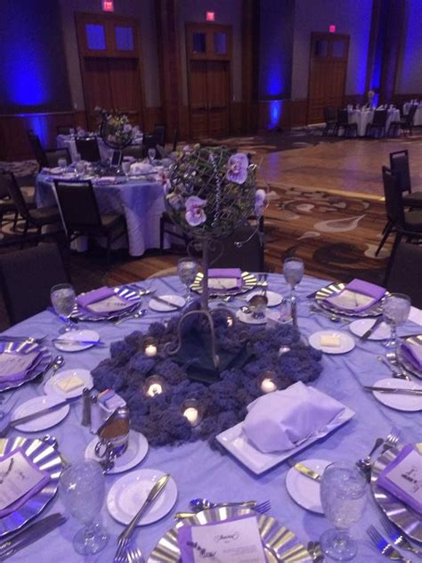 silver navy and purple wedding with armillary