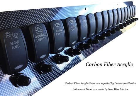 Acrylic Boat Dash by Carbon Fiber Acrylic Boat Instrument Panel Decorative