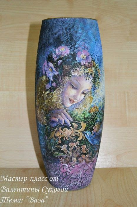 Decoupage Vase - 1776 best images about decoupage vases on