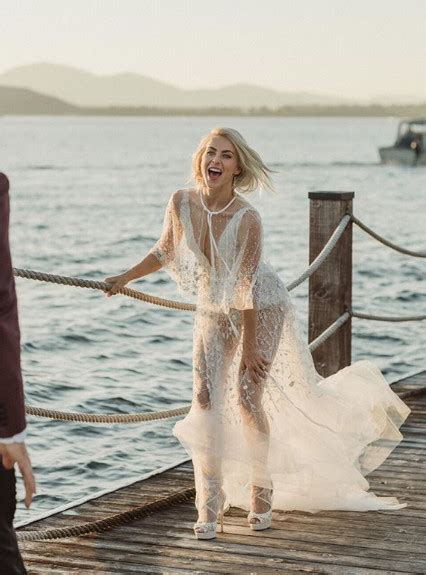 julianne hough   daring celebrity wedding dresses