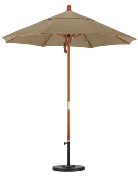 7 5 wooden sunbrella patio umbrella fabric aa