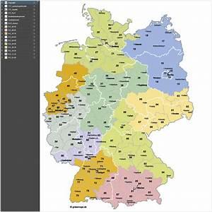 Berlin Plz Karte : deutschland postleitzahlenkarte plz 2 vektor 2 stellig ~ One.caynefoto.club Haus und Dekorationen