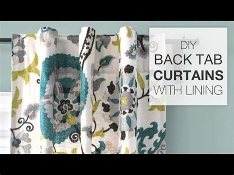 how to sew lined back tab curtains tutorial