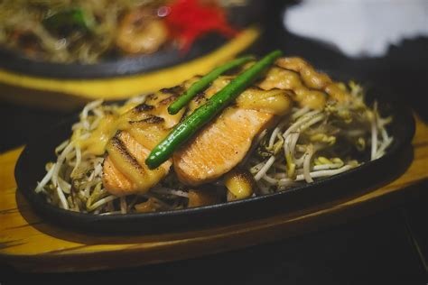 japanese seared salmon  chopped green onions recipe