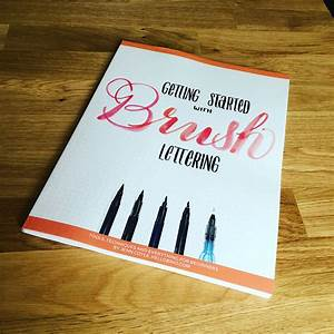getting started with brush lettering book is available With brush lettering book