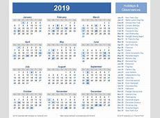 January 2019 Calendar With Holidays UK – printable weekly
