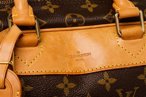 louis vuitton monogram canvas leather deauville doctor bag  brown lyst