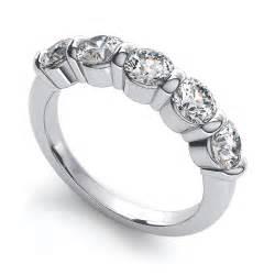 14k white gold mens wedding band 14k white gold 1 carat t w 5 diamond anniversary band