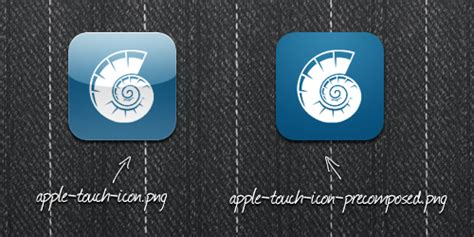 Apple Touch Icon (auch Ohne Glanz) Erstellen