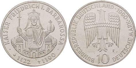 10 dm münze wert 10 dm m 252 nze kaiser friedrich i barbarossa