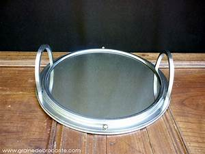 Plateau Miroir Rond : plateau miroir rond vintage en fer ~ Teatrodelosmanantiales.com Idées de Décoration