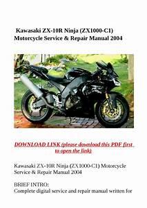 Kawasaki Zx 10r Ninja  Zx1000 C1  Motorcycle Service
