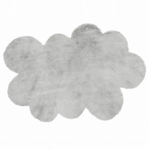 tapis nuage gris clair pilepoil pour chambre enfant With tapis poil gris clair