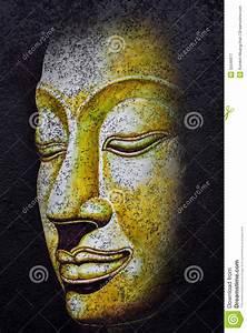 Buddha Face Acrylic Painting Stock Illustration - Image ...