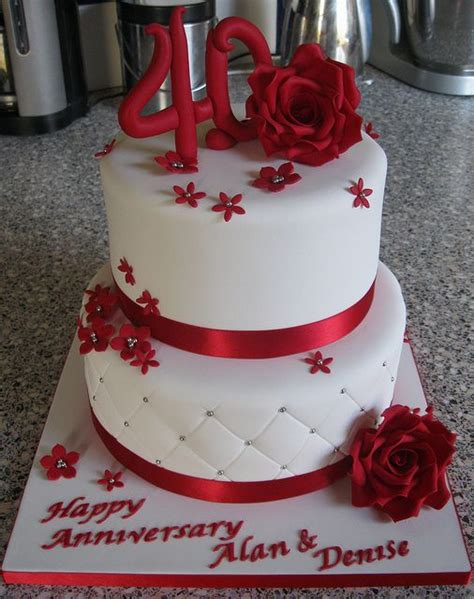 40th Anniversary Decorations - the 25 best 40th anniversary cakes ideas on