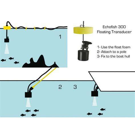 echofish  handheld fish finder  floating transducer