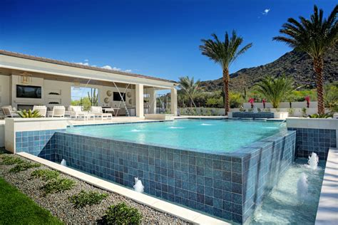 infinity edge swimming pool gallery presidential pools