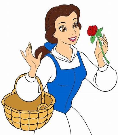 Princess Belle Disney Clipart Beast Clip Beauty
