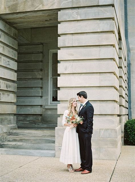 simple courthouse elopement  wed