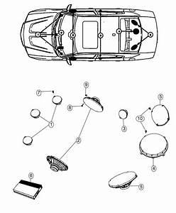 2015 Dodge Charger Speaker  Sub Woofer
