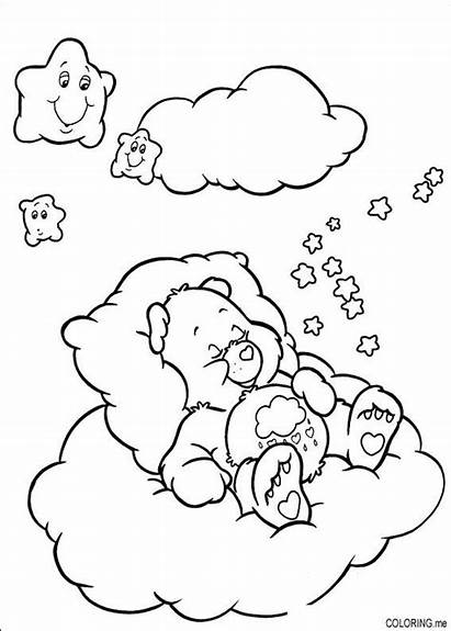Coloring Pages Cloud Care Bears Sleeping